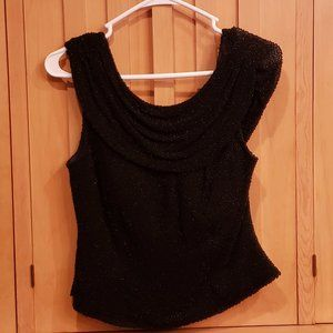 Perfect beaded vintage Cecily Brown Blk formal top